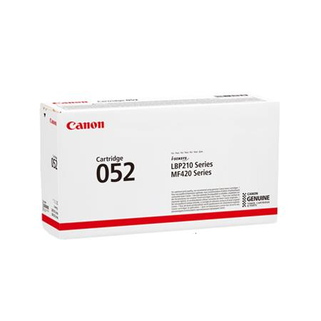 Canon 052 Black Original Standard Capacity Toner Cartridge (2199C001AA)
