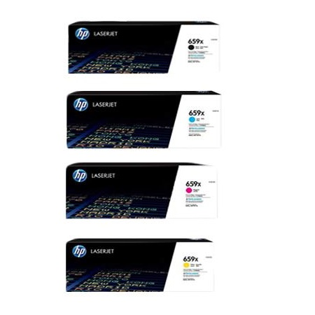 HP 659X Full Set Original High Capacity Toner Cartridges