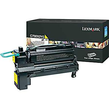 Lexmark C792X2YG Original Yellow Extra High Capacity Toner Cartridge
