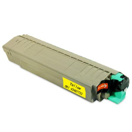 OKI 43487733 Yellow Remanufactured Toner Cartridge