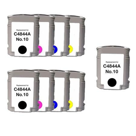 10BK/C/M/Y 2 Full set + 1 EXTRA Black Remanufactured Inks