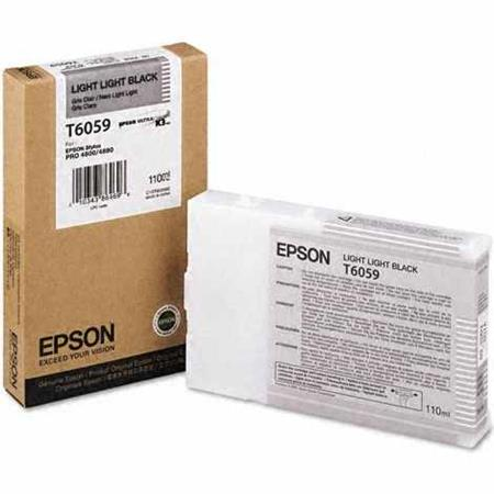 Epson T6059 (T605900) Original Light Light Black Ink Cartridge