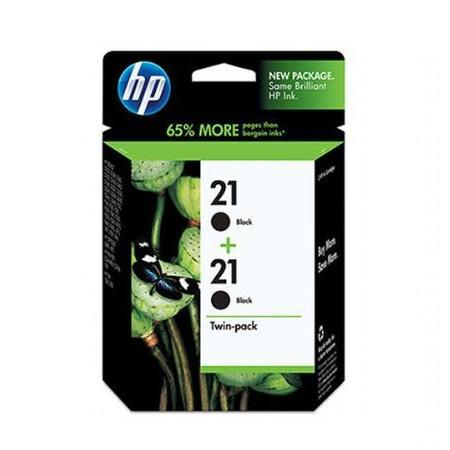 HP 21 Black Original Inkjet Print Cartridge (C9508BN) Twin Pack