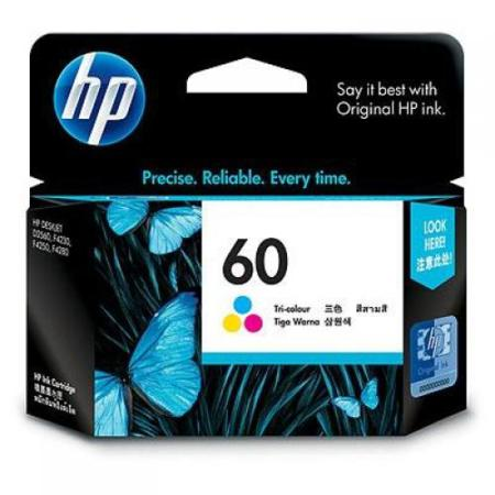 HP 60 Tri-Color Original Standard Capacity Ink Cartridge (CC643WN)