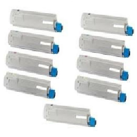 Clickinks 42918984/83/82/81 2 Full Sets + 1 EXTRA Black Remanufactured Toner Cartridge
