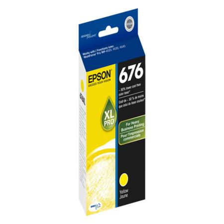 Epson T676XL (T676XL420) High Capacity Original Yellow Ink Cartridge