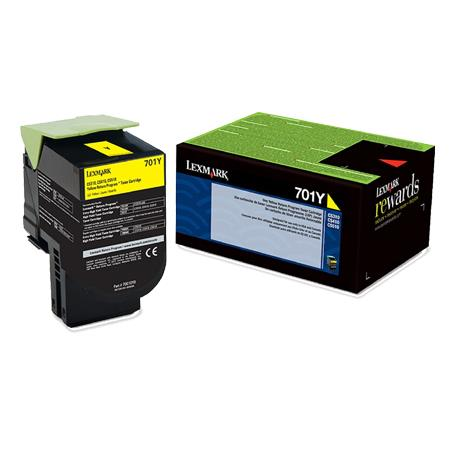 Lexmark 701Y Original Yellow Standard Capacity Return Program Toner Cartridge