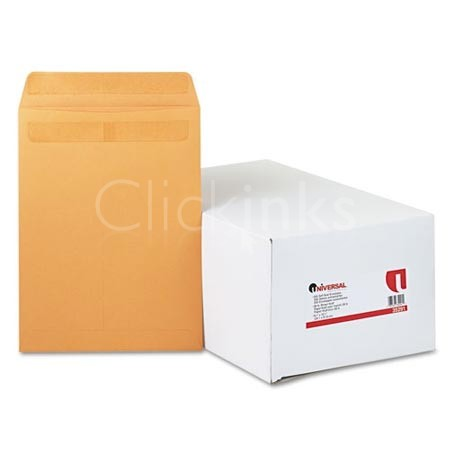 Self-Stick File-Style Envelope Contemporary 12 1/2 x 9 1/2 Brown 250/Box