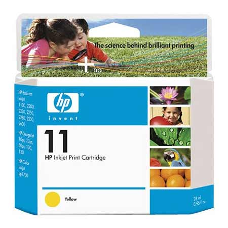 HP 11 Yellow Original Ink Cartridge (C4838AN)