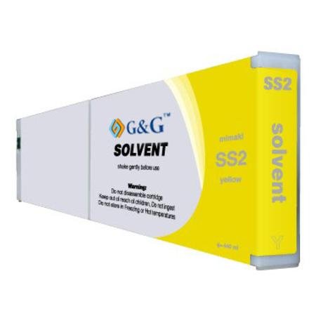 Mimaki SS2 Compatible Eco-Solvent Yellow Inkjet Cartridge