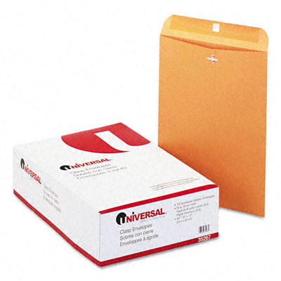 Universal Kraft Clasp Envelope  Side Seam  28lb  10 x 13  Light Brown  100/Box