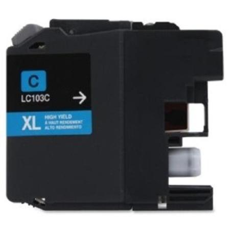 Compatible Cyan Brother LC103C High Yield Ink Cartridge