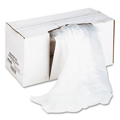 Universal Recycled/Recyclable 3-Ply Shredder Bags 26w x 18d x 48h 100 Bags/Carton Clear