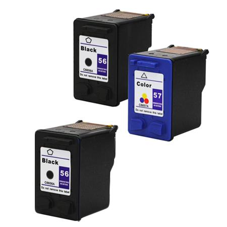 Clickinks 56/57 Full Set + 1 EXTRA Black Remanufactured Inks