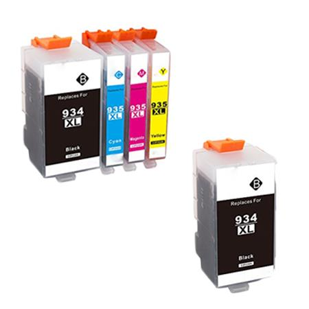 934XL/935XL Full Set + 1 EXTRA Black Remanufactured Inks