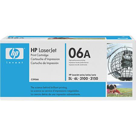 HP LaserJet 06A (C3906A) Black Original Standard Capacity Print Cartridge with Microfine Toner