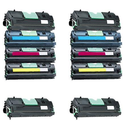 1361751/54 2 Full Sets + 2 EXTRA Black Remanufactured Toner