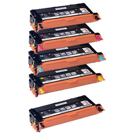 Clickinks 113R00723/4/5/6  Full Set + 1 EXTRA Black Remanufactured Toner Cartridge