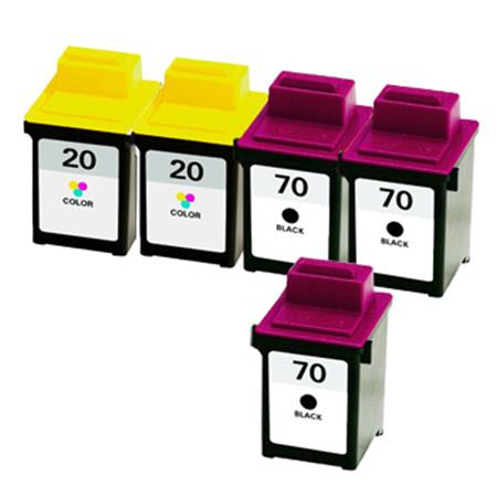 Compatible Multipack Lexmark No.70/No.20 2 Full Sets + 1 EXTRA Black Inkjet Cartridges