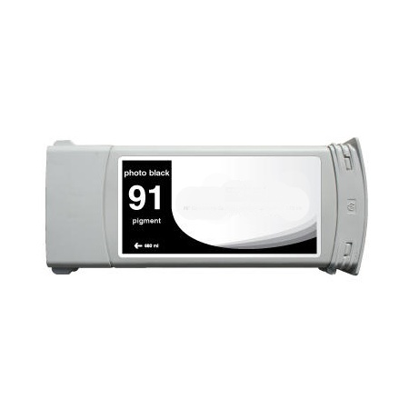 HP 91 Photo Black Pigment Remanufactured  Ink Cartridge (C9465A) (775ml)