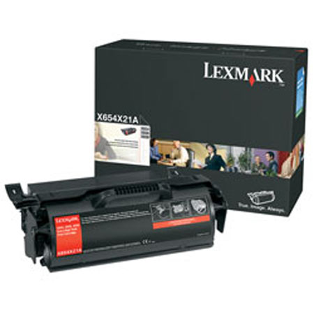 Lexmark X654X21A / X654X11A Black Original Extra High Yield Laser Toner Cartridge