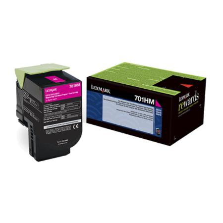Lexmark 701HM Original Magenta High Capacity Return Program Toner Cartridge