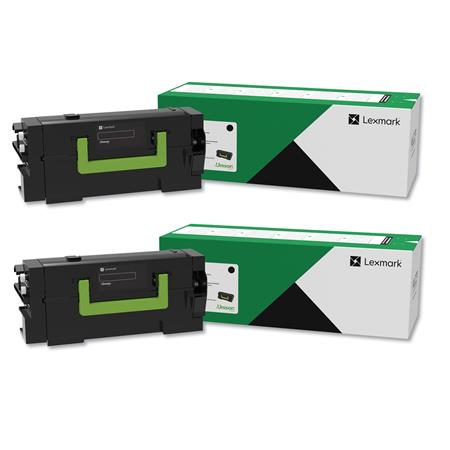 Lexmark 58D1H00 Black Original High Capacity Return Program Toners Twin Pack