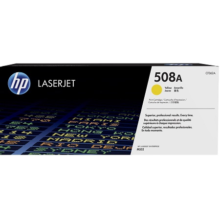 HP 508A Yellow Original Standard Capacity Toner Cartridge (CF362A)