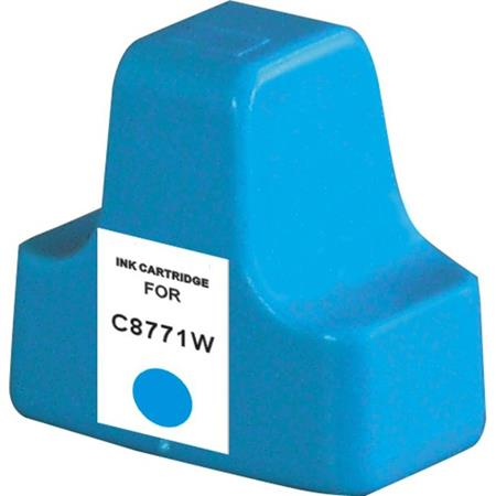 HP 02 Cyan Remanufactured Ink Cartridge (C8771WN)