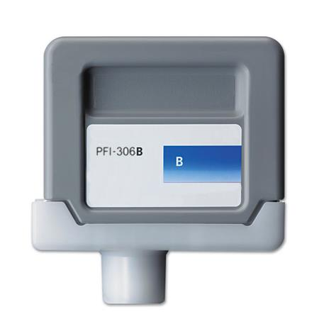 Compatible Blue Canon PFI-306B Ink Cartridge (Replaces Canon 6665B001AA)