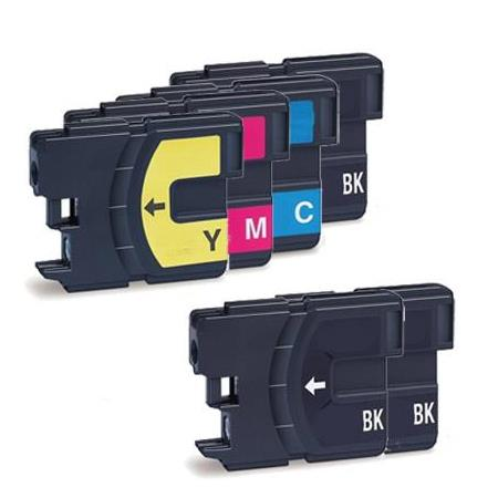 Compatible Multipack Brother LC65BK/C/M/Y Full Set +  2 EXTRA Black Ink Cartridges