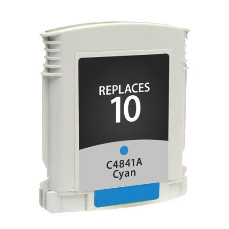 HP 10 Cyan Remanufactured Printer Ink Cartridge (C4841A)