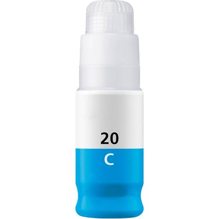 Compatible Cyan Canon GI-20C Ink Bottle (Replaces Canon 3394C001)
