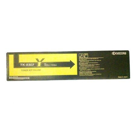 Kyocera Mita TK-8307Y Yellow Original High Capacity Toner Cartridge