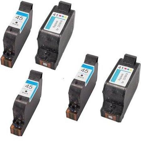 Compatible Multipack HP 45/41 2 Full Sets + 1 EXTRA Black Ink Cartridges