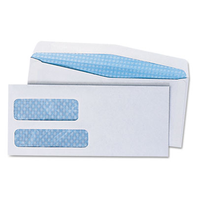 Universal Double Window Business Envelope  #9  White  500/Box