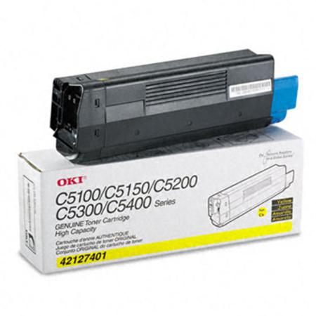OKI 42127401 Original Yellow High Capacity Toner Cartridge