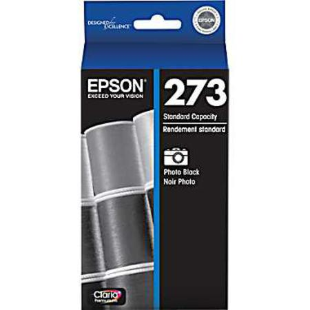 Epson 273 (T273120) Photo Black Original Claria Premium Standard Capacity Ink Cartridge