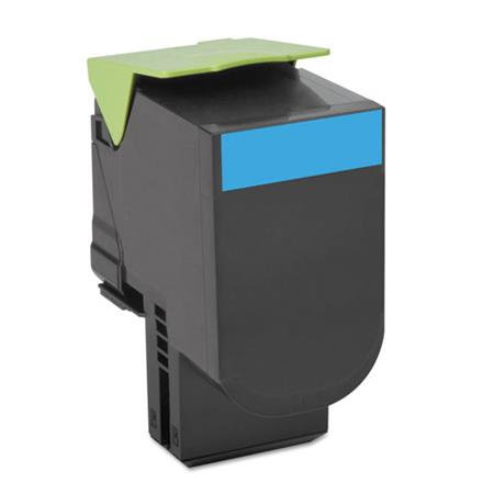 Compatible Cyan Lexmark 70C1HC0 High Yield Toner Cartridge