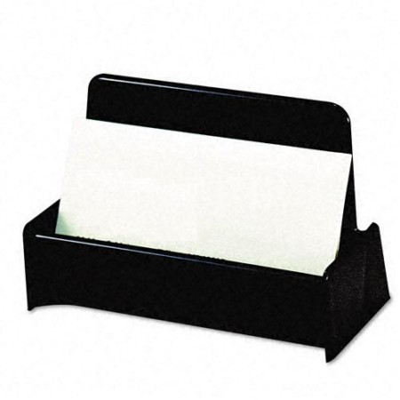 Universal Business Card Holder  Capacity 50 2-1/4 x 4 Cards  Black