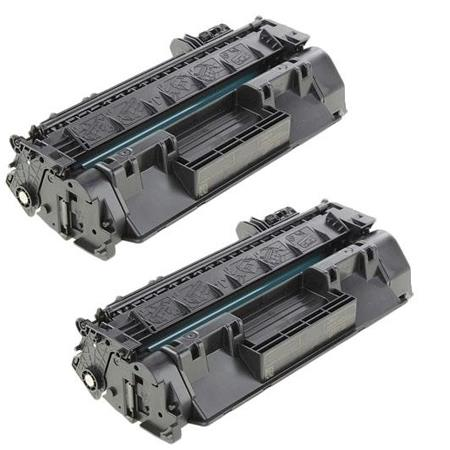 80X Black Remanufactured Micr Toner Cartridges Twin Pack