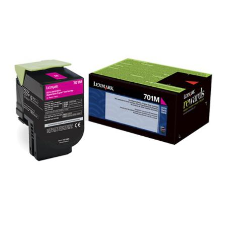 Lexmark 701M Original Magenta Standard Capacity Return Program Toner Cartridge