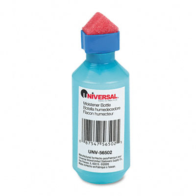 Universal Squeeze Bottle Moistener with Sponge Tip Applicator 2 oz. Capacity