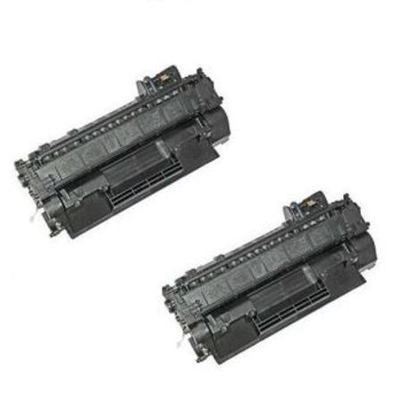 80A Black Remanufactured Toner Cartridges Twin Pack