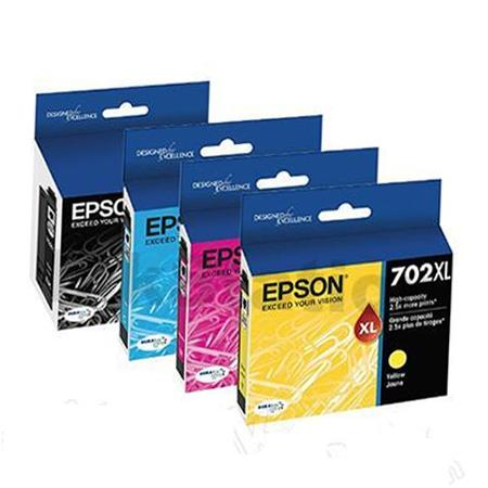 Epson T702XL Full Set Original High Capacity Ink Cartridges