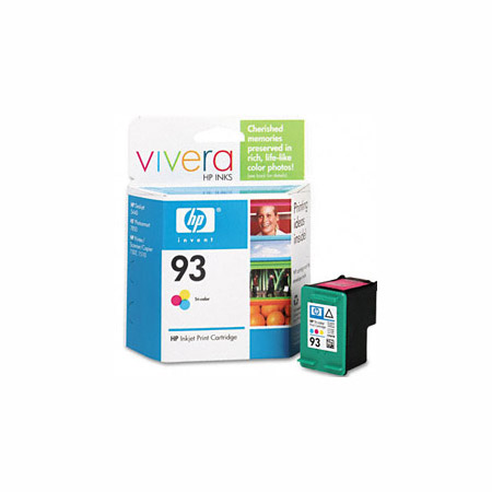 HP 93 Tri-Color Original Inkjet Print Cartridge with Vivera Inks (C9361WN)