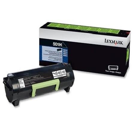 Lexmark 50F1H00 (501H) Black Original High-Yield Return Program Toner Cartridge
