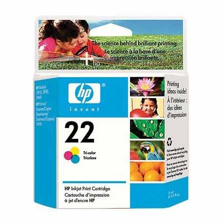 HP 22 Tri-Color Original Inkjet Print Cartridge (C9352AN)