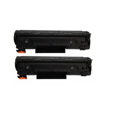 No.36A Black Remanufactured Toner Cartridges Twin Pack