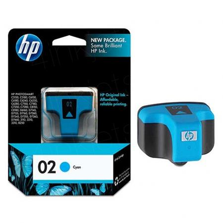 HP 02 Cyan Original Ink Cartridge with Vivera Ink (C8771WN)